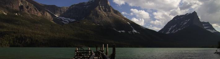 Boat Dock on St. Mary Lake
