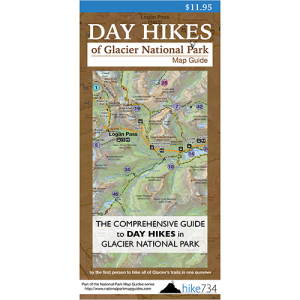 Day Hikes of Glacier National Park Map Guide