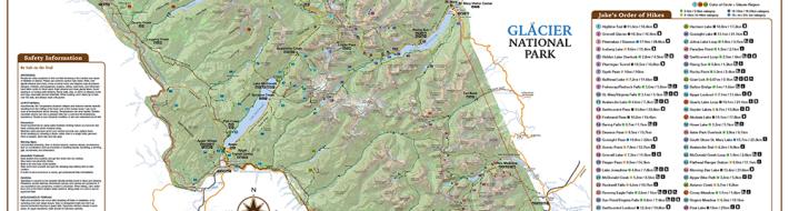 Glacier Wall Map
