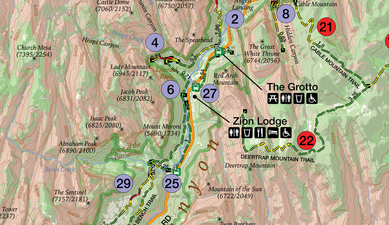 GPS Tracks For Zion National Park - Map of zion national park