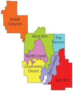 Zion National Park Regions